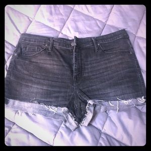 Mossimo High Rise Black Denim Shorts Size 14